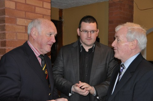 Club President Brian Mullan, Treasurer Treveor Sweeney and Deputy Tony McLoughlin