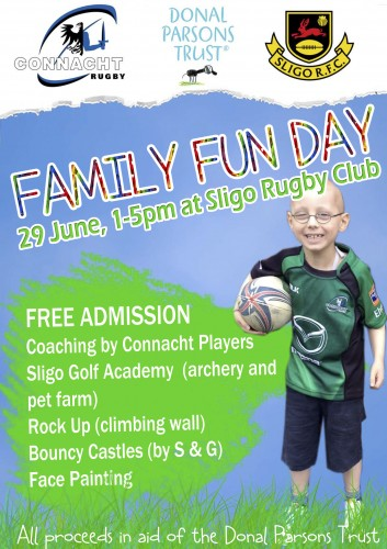 Family Fun Day - Sligo Rugby Club Sun June 29th