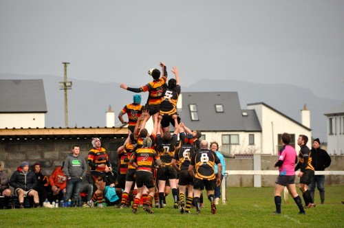 Andrew Williams steals the Dunmore lineout ball