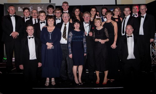 Members of the Club of the Year Sligo RFC at the awards 16/5/2015